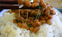 natto soy beans ingredient rice